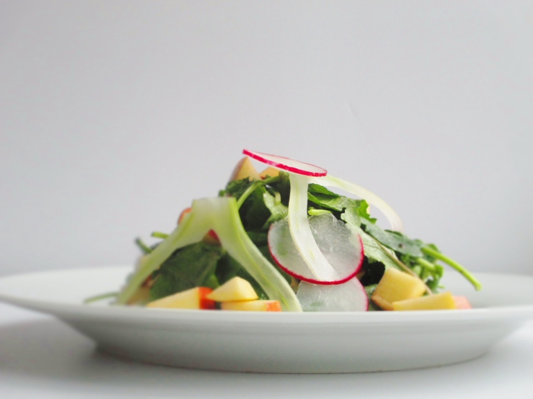 Apple, Fennel, and Radish Salad with Poppy seed Vinaigrette